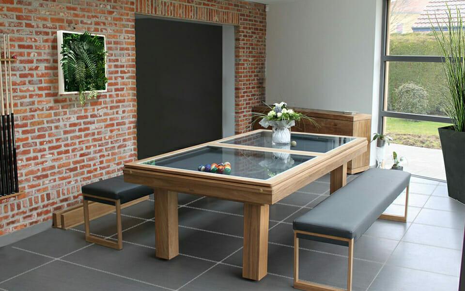 Billard-Teck-Billard-extérieur-OSL-Luxury-Billard-bois-Billard-table