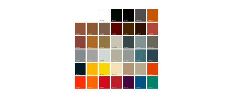 Nuancier coloris RAL