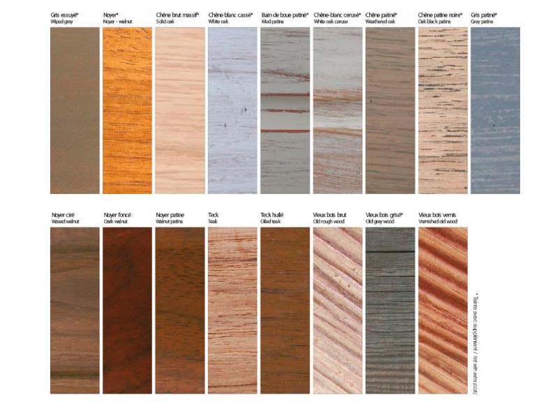 Nuanciers coloris bois